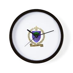 CHIASSON Family Crest Wall Clock