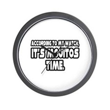 """""""It's Mojitos Time"""" Wall Clock"""