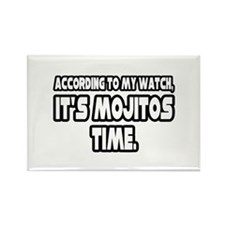 """It's Mojitos Time"" Rectangle Magnet (100 pack)"