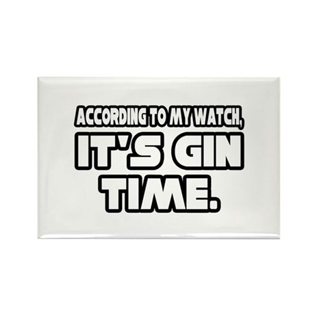 """""""It's Gin Time"""" Rectangle Magnet (100 pack)"""