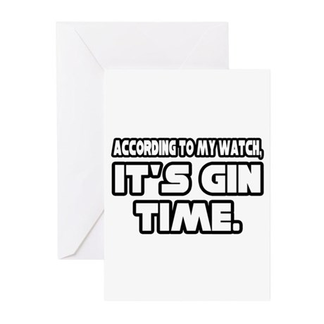 """It's Gin Time"" Greeting Cards (Pk of 10)"
