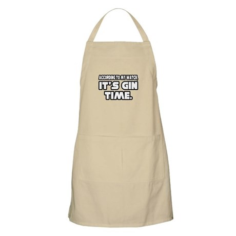 """It's Gin Time"" BBQ Apron"