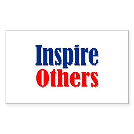 Inspire Others Rectangle Sticker