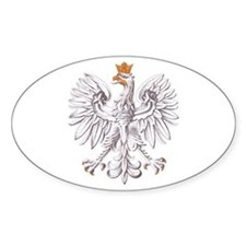 Polish White Eagle Oval Decal