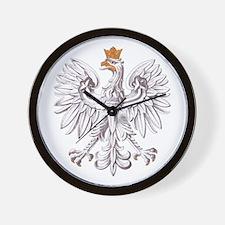 Polish White Eagle Wall Clock