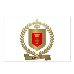 CHOLETTE Family Crest Postcards (Package of 8)