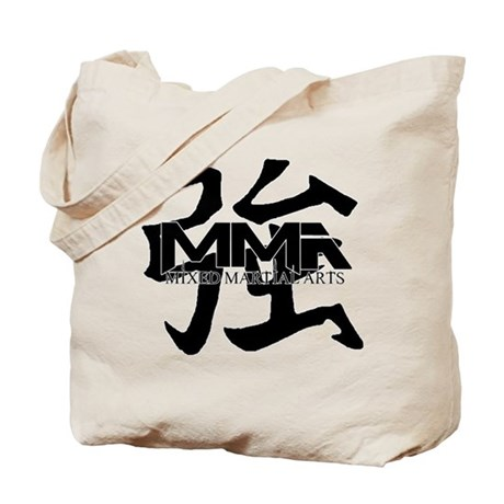 MMA Kanji Strong - Black Logo Tote Bag