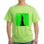 4th of July Freedom Green T-Shirt
