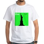 4th of July Freedom White T-Shirt