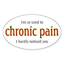 Chronic Pain - Oval Decal