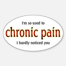 Chronic Pain - Oval Decal