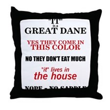 Great Dane Walking Answers Throw Pillow