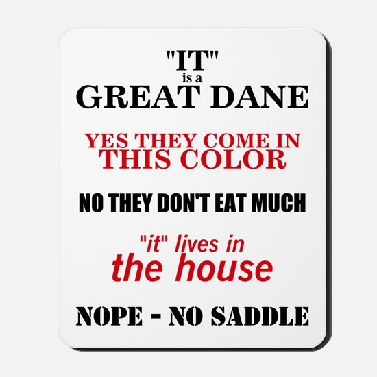 Great Dane Walking Answers Mousepad