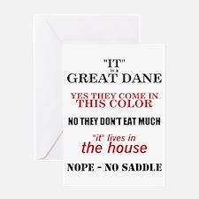 Great Dane Walking Answers Greeting Card