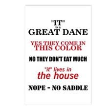 Great Dane Walking Answers Postcards (Package of 8