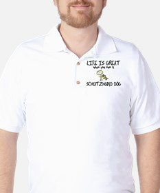 Life is Great Schutzhund Golf Shirt