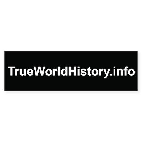 TrueWorldHistory.info Bumper Sticker (10 pk)