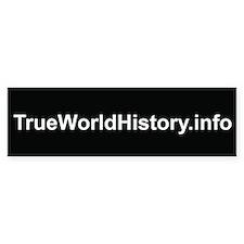 TrueWorldHistory.info Bumper Bumper Sticker