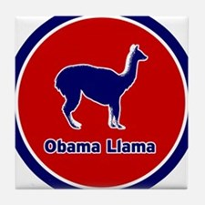 Obama Llama Tile Coaster