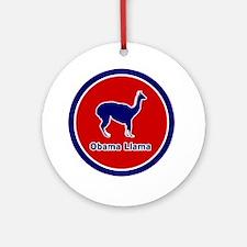 Obama Llama Ornament (Round)