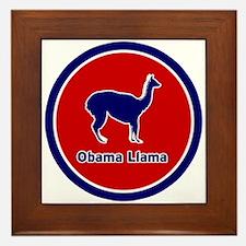 Obama Llama Framed Tile