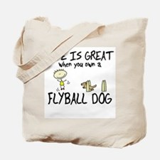 Life is Great Flyball Tote Bag