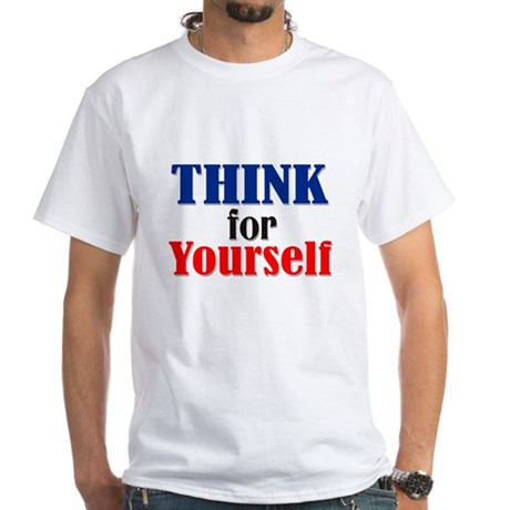 Think White T-Shirt