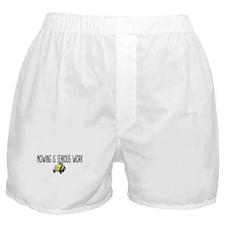 Mowing serious work Boxer Shorts