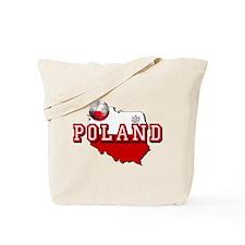Polish Flag Map Tote Bag