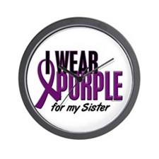 I Wear Purple For My Sister 10 Wall Clock