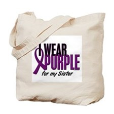 I Wear Purple For My Sister 10 Tote Bag