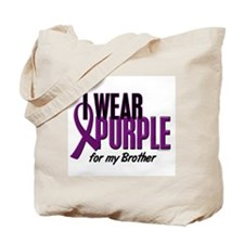 I Wear Purple For My Brother 10 Tote Bag