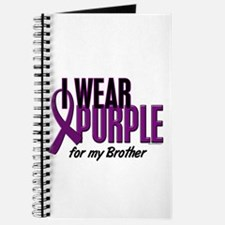 I Wear Purple For My Brother 10 Journal