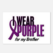 I Wear Purple For My Brother 10 Postcards (Package