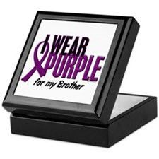 I Wear Purple For My Brother 10 Keepsake Box