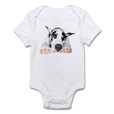 Great Dane Shy Harlequin Infant Bodysuit