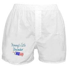 Mommy's Little Firecracker blue Boxer Shorts