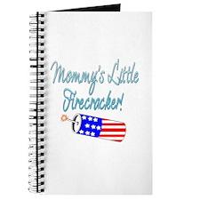 Mommy's Little Firecracker blue Journal