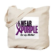 I Wear Purple For My Mother 10 Tote Bag
