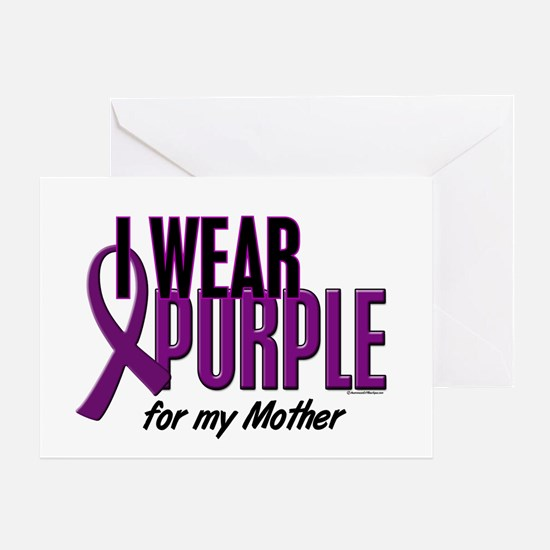 I Wear Purple For My Mother 10 Greeting Card