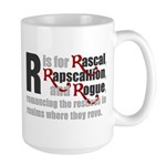 R is for Rascal Large Mug