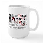 R is for Rascal Large Mug