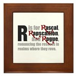 R is for Rascal Framed Tile