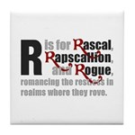 R is for Rascal Tile Coaster