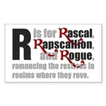 R is for Rascal Rectangle Sticker 50 pk)