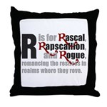 R is for Rascal Throw Pillow