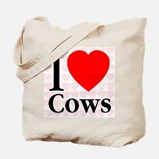 I Love Cows Tote Bag