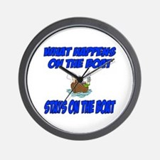 What happens on the boat Wall Clock