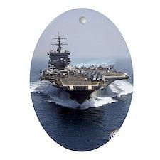USS Enterprise CVN-65 Oval Ornament