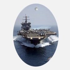 USS Enterprise CVN-65 Oval Ornament